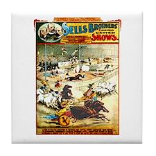 Sells Bros. Three-Ring Circus Tile Coaster