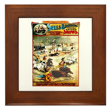 Sells Bros. Three-Ring Circus Framed Tile
