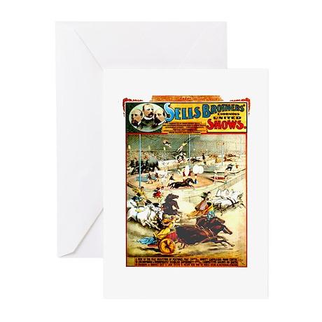 Sells Bros. Three-Ring Circus Greeting Cards (Pk o