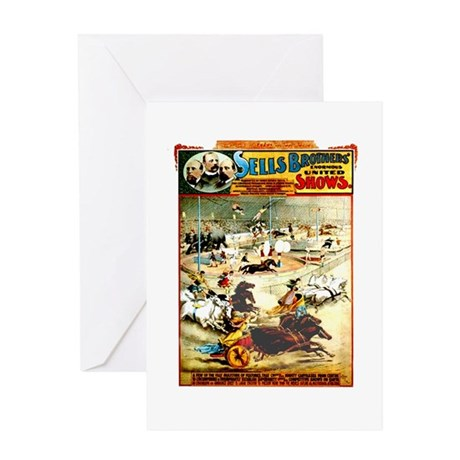 Sells Bros. Three-Ring Circus Greeting Card