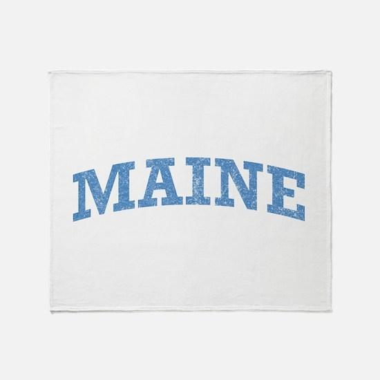 Vintage Maine Throw Blanket