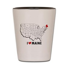 I Love Maine Shot Glass