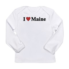 I Love Maine Long Sleeve Infant T-Shirt