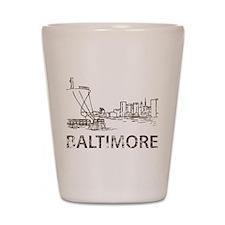 Vintage Baltimore Shot Glass
