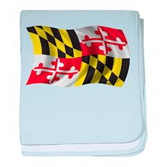 Wavy Maryland Flag baby blanket