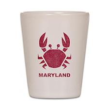 Crab Maryland Shot Glass
