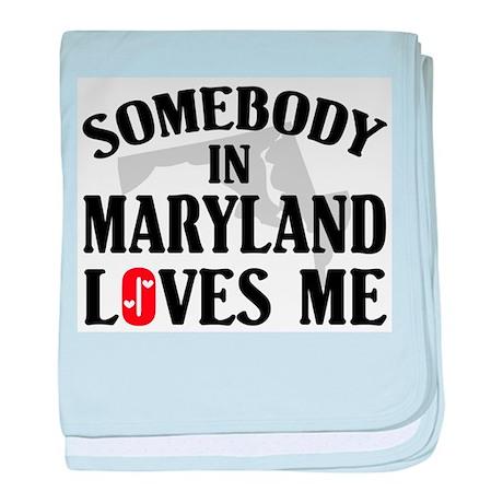 Somebody In Maryland baby blanket