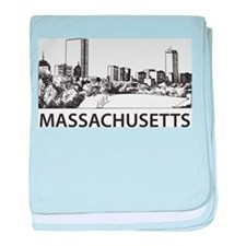 Massachusetts Skyline baby blanket