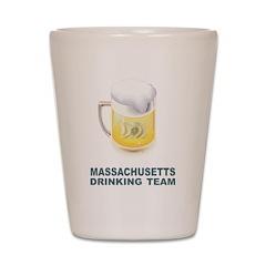 Massachusetts Drinking Team Shot Glass