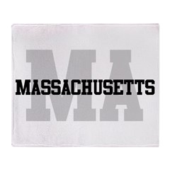 MA Massachusetts Throw Blanket