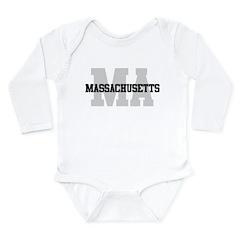 MA Massachusetts Long Sleeve Infant Bodysuit