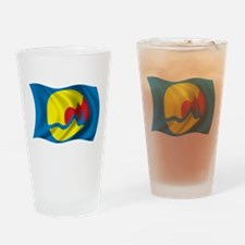 Wavy Grand Rapids Flag Pint Glass