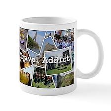 """Travel Addict""  PhotoSplash Mug"