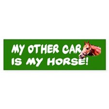 My Other Car is My Horse Bumper Bumper Sticker