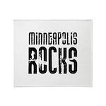 Minneapolis Rocks Throw Blanket