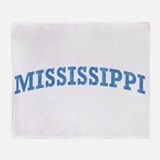 Vintage Mississippi Throw Blanket