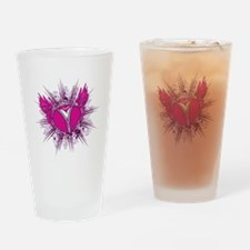 funky unzipped heart vector illustration Pint Glas
