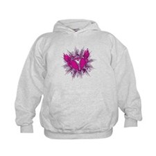 funky unzipped heart vector illustration Hoodie