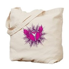 funky unzipped heart vector illustration Tote Bag