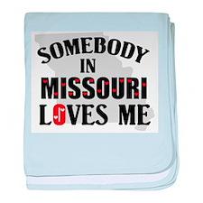 Somebody In Missouri baby blanket