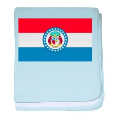Missouri Flag baby blanket