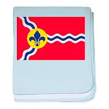 St. Louis Flag baby blanket