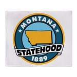 Montana Statehood Throw Blanket