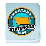 Montana Statehood baby blanket
