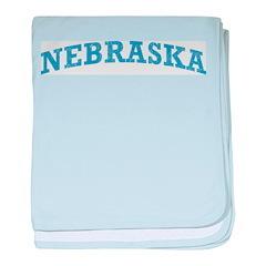 Vintage Nebraska baby blanket