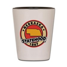 Nebraska Statehood Shot Glass