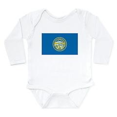 Nebraska Flag Long Sleeve Infant Bodysuit