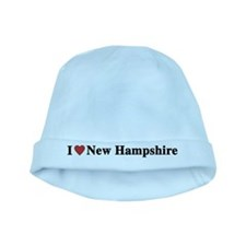 I Love New Hampshire baby hat