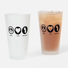 Peace Love New Jersey Pint Glass