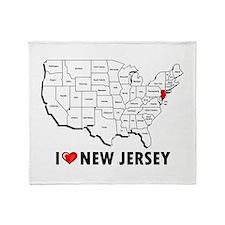 I Love New Jersey Throw Blanket