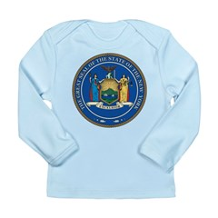 New York State Seal Long Sleeve Infant T-Shirt