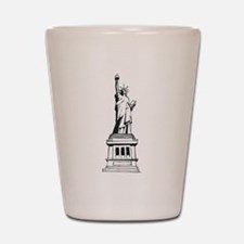 Hand Drawn Statue Of Liberty Shot Glass