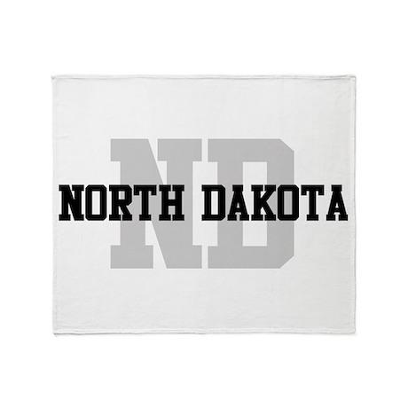 ND North Dakota Throw Blanket