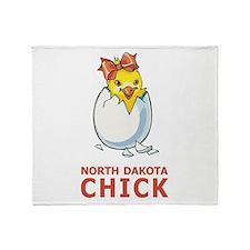 North Dakota Chick Throw Blanket