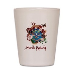 Butterfly North Dakota Shot Glass