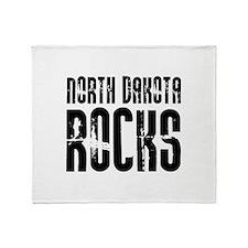 North Dakota Rocks Throw Blanket