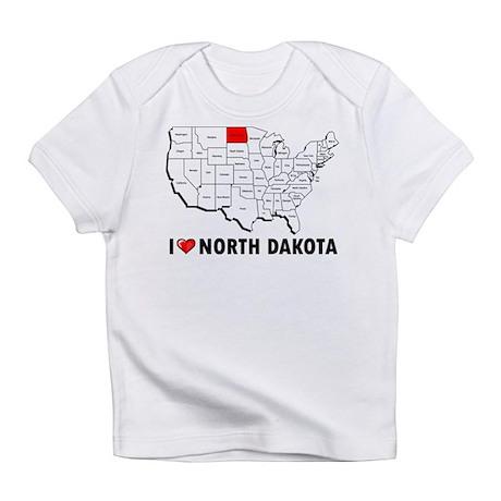I Love North Dakota Infant T-Shirt