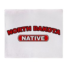 North Dakota Native Throw Blanket