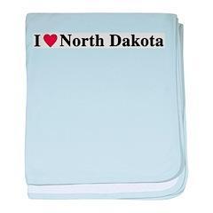 I Love North Dakota baby blanket