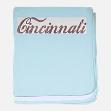 Vintage Cincinnati baby blanket