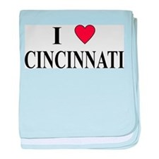 I Love Cincinnati baby blanket
