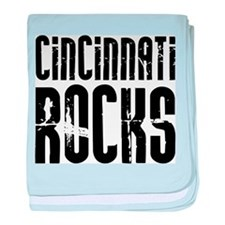 Cincinnati Rocks baby blanket