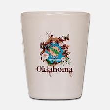 Stylish Oklahoma Shot Glass