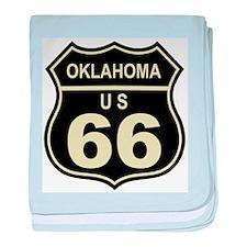 Oklahoma Route 66 baby blanket