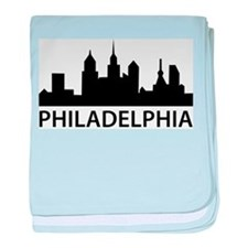 Philadelphia Skyline baby blanket