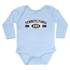 Pennsylvania 1787 Long Sleeve Infant Bodysuit
